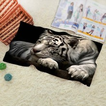 Tiger Style Single-Sided Printing Bath Towel Super-Absorbent Modern Simple Cool Beach Bathroom Towel(China)