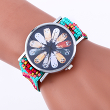 2017 Luxury brand Cheap Women Watch Fashion Weaving watches Bracelet Lady Womans Wrist Watch 100pcs/lot