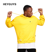 Buy HEYGUYS design new fashion hip hop hoodies men yellow sweatshirts man brand print sleeve clothing street wear oversize for $47.92 in AliExpress store