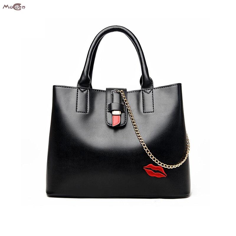 Moccen Large Leather Tote Bag Crossbody Bags For Women Luxury Women Shoulder Bags Fashion Bao Bao Bolsa Feminina Top Handle<br>