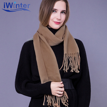 IWINTER 2018 New Fashion Winter Scarf For Women Solid Color Scarf Shawl Warm Female Soft Scarf Women Shawl Best Selling Scarves(China)