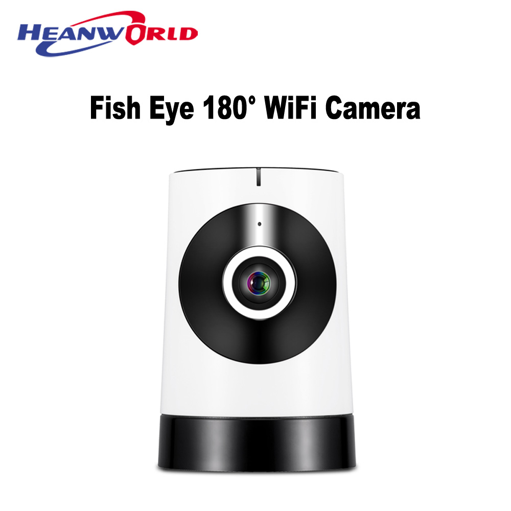 Mini Panoramic Fish Eye IP Camera WIFI Wide Angle 180 degree HD 720P Android/ios App Wireless CCTV Home Security Camera Colorful<br>