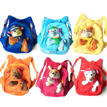 2017 Hot sale 32cm Cartoon Canine Patrol Puppy Dogs Plush Toys Backpack Toys School Bag Children Birthday Gifts