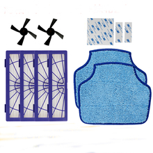 New 4PCS Hepa Filter & 2PCS Side Brush & 2PCS mopping cloth for Neato BotVac 70e 75 80 85 Free Post