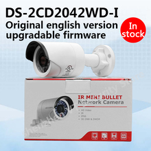 In stock original english version DS-2CD2042WD-I 4MP IR Bullet Network Camera poe IP camera(China)