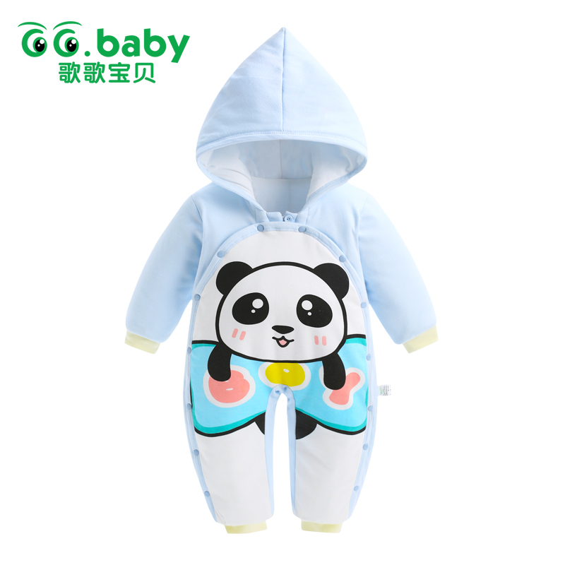Zoo Animals Print A Panda New Born Baby Clothes Infant Winter Clothing Baby Romper Boy Jumpsuit Cotton Fashion Newborn Outfits <br><br>Aliexpress