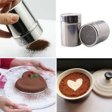 Multifunctional Stainless Steel Chocolate Shaker Cocoa Flour Salt Powder Icing Sugar Cappuccino Coffee Sifter Lid Cooking  + Lid