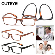 Unisex Ultra-light Resin Framed Reading Glasses Soft Stretch Clear Eyeglass Presbyopia 1.0 1.5 2.0 2.5 3.0 3.5 Diopter Glasses 2