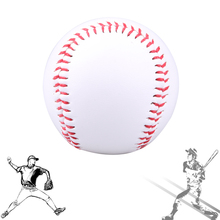 1 piece 7cm White PVC Softball Baseball Ball Handmade For Outdoor Baseball Trainer Sports Practice Traning Baseballs(China)