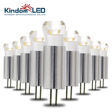 KINDOMLED 10Pcs Super Bright LED G4 Light/Lamp/bulbs 12 volt  DC 1W 2W Led 12V Mini Stainless Housing With COB LED Cute Shape