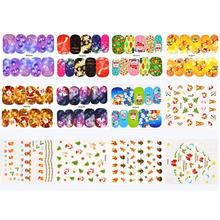 New Arrival Women Nail Art Nial Sticker Halloween Designs Girl Beauty Nail Tools Oct 9(China)
