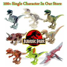 ZXZ Single Sale legoing Dinosaurs Of Jurassic Park World  Movie Kid Baby Toy Building Blocks Sets Model Toys Brick