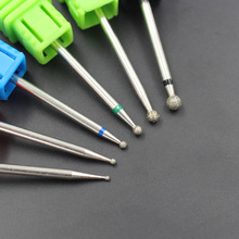 6 Size Spherical Head Diamond Nail Drill Bits Rotary Bur Cuticle For Manicure Electric Nail Drill Accessories Nail Salon Tools(China)