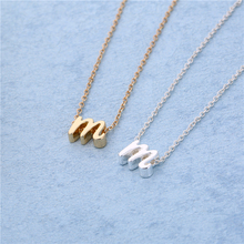 New Fashion Letter Necklace Jewelry,Tiny Initial Necklace,Lower case letters,Couples Necklace,Gold/Silver Gift For Her-Gift Idea(China)