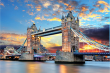 Landscape London Tower Bridge wooden 1000 pieces adult puzzles wooden jigsaw puzzle 1000 pieces for adult children birthday gift(China)