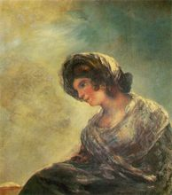 Free shipping 100% hand painted most famous artists painting reproduction goya oil painting The-Milkmaid-of-Bordeaux