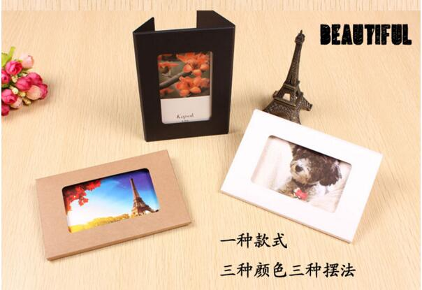 100 pcs 4x6 foldable Postcard packaging Boxes, photo window boxes,greeting card kraft boxes size 15.5*10.2*0.5cm<br>