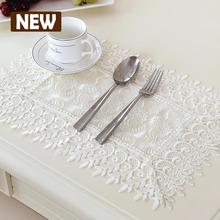 New Square lace gauze embroidery Tablecloth table cloth dinner mat Europe beauty polyester Mat table cover wholesale FG602