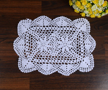 LINKWELL 1PC White Rectangular Lace Paper Doilies / Doyleys Vintage Coasters / Placemat Craft Wedding Christmas Table Decoration