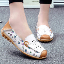 Buy Genuine Leather Shoes Women Ballet Flats Loafers Summer Moccasins Ladies Slip Casual Flat Shoes Ballerina Blue Zapatos Mujer for $9.39 in AliExpress store