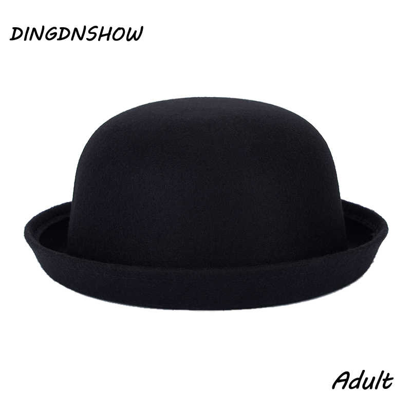 00d9234c3ee  DINGDNSHOW  2018 Fashion Vintage Fedora Lady Cute Trendy Wool Cap Felt  Bowler Derby Floppy
