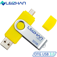 LEIZHAN 6Colors USB Flash Drives 32GB USB 3.0 Android Phone OTG Flash Drive 16 gb PenDrive 8GB For Huawei, Samsung, Xiaomi etc