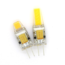 1pcs High Quality COB G4 led light 3W 6W AC DC 12V Warm/Cold white G4 car bulb chandelier(China)