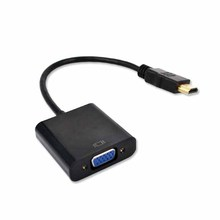 New HDMI VGA Video adaptor Male to Female HDTV CRT Monitor TV for XBOX 360 PS3 HDMI to VGA 3.5mm plug Audio Cable Converter