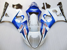 For SUZUKI GSX-R1000 White Blue K3 03 04 GSX R1000 K3 GSXR 1000 2003 2004 GSXR1000 Fairing Kit