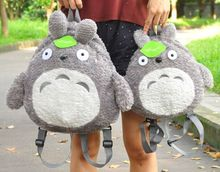 super lovely Japanese my neighbour totoro backpack, totoro parent-child backpack, cartoon school bag totoro plush backpack