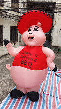 Free shipping 3m high Giant Inflatable Cartoon Characters Lovely Pig