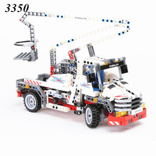 DECOOL 2017 NEW 3350 bucket technology truck Telescopic handler Kids Toy building blocks set transport Compatible with 8071(China)