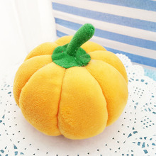 Hot cat Toys Pumpkin Pet Puppy Chew Squeaker Lint Sound Toys 10cm Length Pet Toys