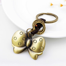 Wholesale New Chain Gift Metal Butterfly Key Ring Factory Direct Selling Creative Small Commodity Market(China)