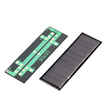 2017 New 5.5V 50mA Solar Panel Mini Polysilicon Solar Epoxy Plate Battery Charger DIY Module For Outdoor Charging Board(China)
