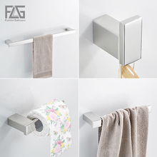 Nickel Brushed 304 Stainless Steel Next Bathroom Accessories Set Single Towel Bar, Cloth Hook, Paper Holder Bath Hardware Sets(China)