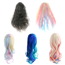 for 1/6 Doll Baby Sweet Fantasy Dream Wavy Curly Hair Wig Hairpiece Cosplay Wig Girl Dolls Decoration Accessory for Doll Lover(China)