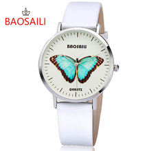 BAOSAILI Top Branded Butterfly Long lasting Battery Water Resistant Design Gold Plating Case Series Women Quartz Watch BS-1017