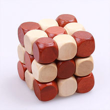 NEW 3D WOODEN TOYS JIGSAW PUZZLE KIDS MAGIC CUBE EDUCATIONAL TOY FOR CHILREN