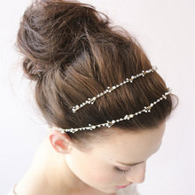 Hot Sale Tiara Wedding Hair Comb Vintage Style Bridal Hair Accessories Crystal Beads Headbands Handmade YWDH10