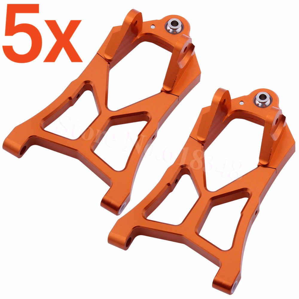 5x Aluminum Front Lower Suspension Arms For RC 1/5 HPI Racing Baja 5B 5SC 5T 5R SS T1000 KM ROVAN 85400<br>