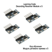QIACHIP RF Receiver Learning Code Decoder Module 433 mhz Wireless 4 Channel output Diy kit For Remote Control 1527 encoding(China)