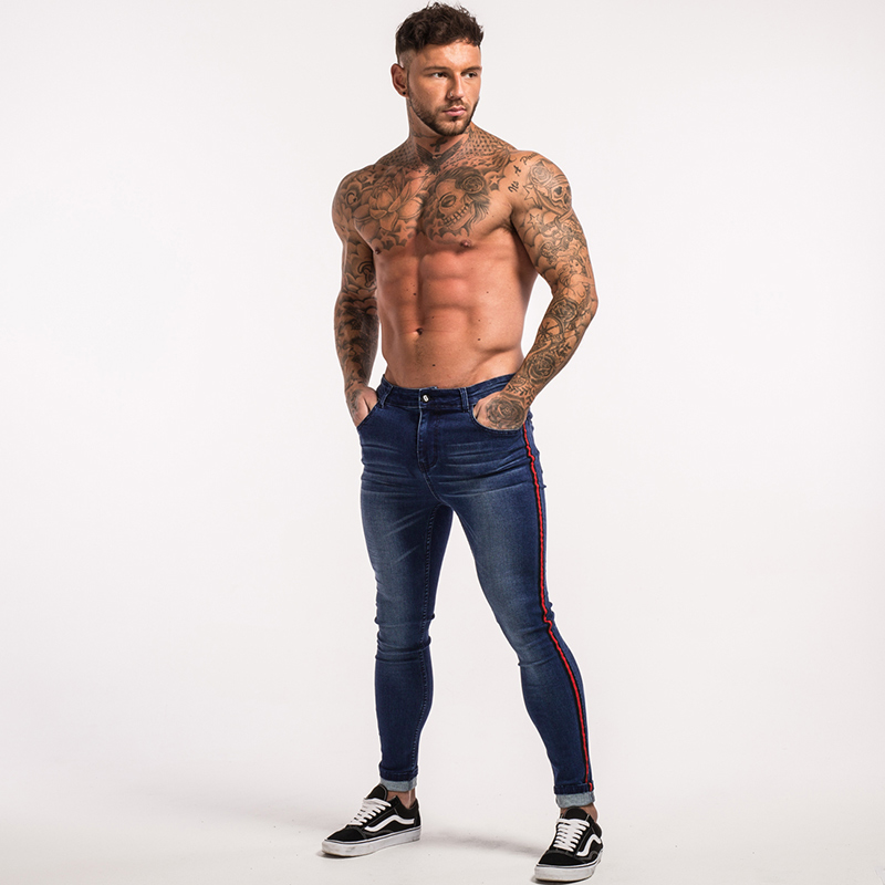 gingtto-men-skinny-jeans-dark-blue-red-stripe-stretch-jeans-zm20-10