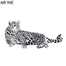 NAI YUEWall sticker 2017 New Hotsale Cheetah Style Delicate Leopard Car Sticker 3D Animal Office Wall sticker Wall Decoration