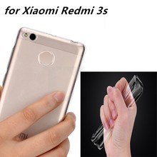 0.6mm for Xiaomi Redmi 3s Case Cover Ultrathin Transparent TPU Soft Cover Protective Case For Redmi 3 s Hongmi 3 s bag