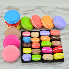 Etmakit Good Sale Kawaii Soft Dessert Macaron Squishy Cute Cell phone Charms Key Straps random color(China)