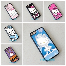 Hello Kitty fashion cell phone case cover for iphone 4 4S 5C 5 5S SE 6 6S 6 plus 6s plus 7 7 Plus #EC33