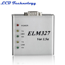 2016 Hot Sale Best Quality ELM327 USB Metal V1.5a Support All OBDII/2 Protocols ELM 327 CAN-BUS Scanner Aluminium ELM327 V1.5