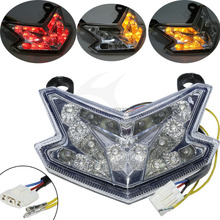 Motorcycle Clear LED Taillight Turn Signal for KAWASAKI NINJA Z800 ZX6R 636 2013 2014 2015