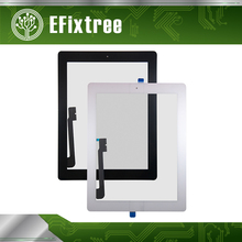 New A1416 A1430 A1403 Touch Panel Assembly For iPad 3 Digitizer Front Glass Black White With Sticker Home Button(China)